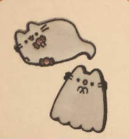 Pusheen ghost pin set