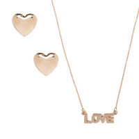 Jules Smith Heart and Love Set *Necklace only*