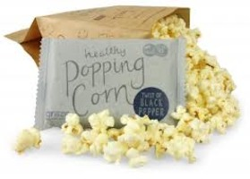 Graze black pepper popcorn