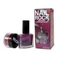 Nail rock velvet purple