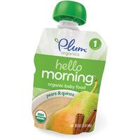 Plum organics baby food- pears & quinoa
