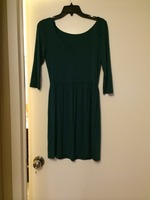 Tart Marie 3/4 Sleeve Dress (Size: small; color: Hunter Green)