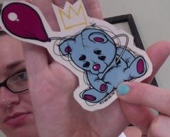 """""""King Cuddles"""" sticker"""