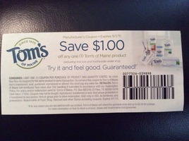 Toms of Maine $1 coupon