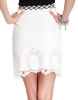 Esley eyelet pencil skirt