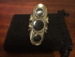 Peruvian Warrior Ring - Black