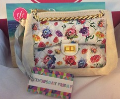"""FFF VIP summer 2014 Thursday Friday Away Mini Clutch/Makeup Bag in """"watercolor floral"""" NOT EVEN AVAILABLE ON WEB SITE $35.00"""