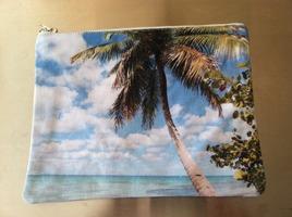 Palm Tree Print Clutch