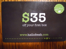 Hello Fresh $35 Off your First Box