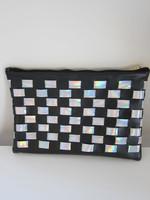Luna Holographic Checkered Clutch