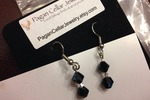 Pagan Cellar Jewelry- Black Bead Earrings