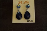 2028 Dark Blue Teardrop Earrings
