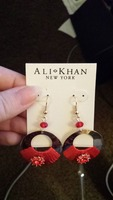 Ali-Khan New York Red and Gold Earrings