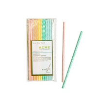 ACME paper straws. Chevron design