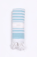Turkish-T Original Hand Loomed Towel in Basic Breeze Sorbet Turquoise