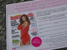 One Year  Subscription to Womens Health Magazine