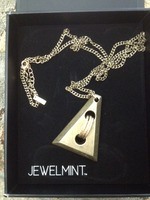 JewelMint Gold Triangle Necklace