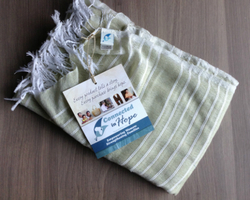 Connected in Hope Shiromeda Spring Scarf