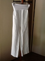 Jolie White Linen Pants