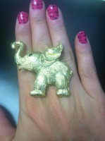 Golden Elephant Ring