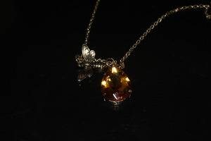 Bee and Amber Honey Drop Necklace