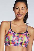 Boracay Sports Bra Medium, High Intensity Print