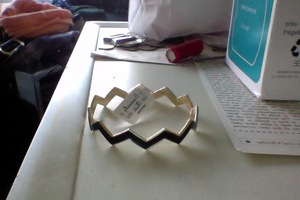 Occasionally Made Black and Gold Bangle