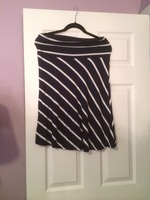 Promesa Navy & White Skirt