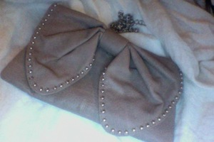 Dusty Rose with Silver Studs Bow Purse or Clutch