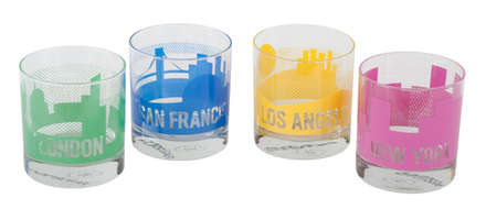 Sisters of Los Angeles City Rocks Glasses - Set of 4