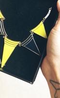 JewelMint Yellow Triangle Necklace