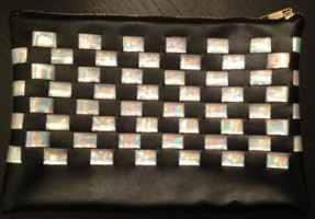 Luna Holographic Checkered Clutch by Hello Parry