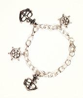 Nautical Anchor Bracelet Silver