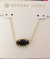 Kendra Scott Black Cat's Eye Elisa Necklace