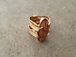 Rain Stone and Feather Ring