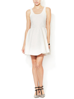Sleeveless Fit & Flare Embroidery Dress