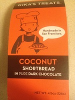 Kika's Treats Coconut Shortbread in Pure Dark Chocolate