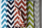 Popsugar Luxury Chevron Throw Navy