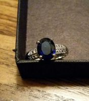 Prize Candle Ring-Drk Blue Rone Sz 8