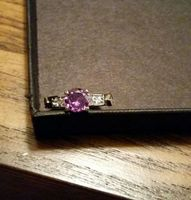 Prize Candle Club Ring - Purple Stone Sz 6