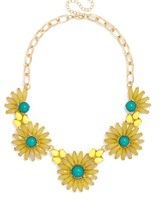 Yellow Flower Bloom Necklace