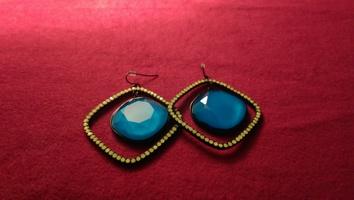 Punch neon earrings
