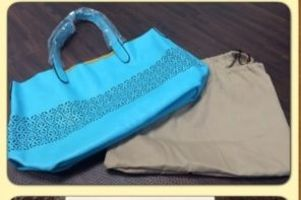 Laser Cut Bag in Turquoise