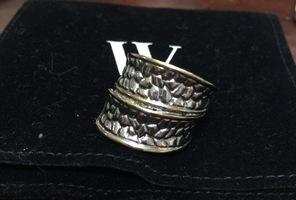 Mixed Metals Textured Ring