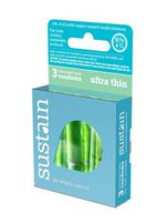 Sustain Ultra Thin Condoms - 3 pk