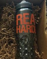 """""""Read Harder"""" water bottle"""