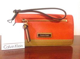 Calvin Klien Bifold Saffiano Leather Wristlet Wallet