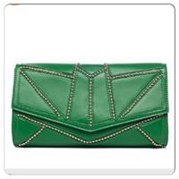 Nila Anthony Beaded Clutch in Emerald