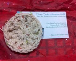 Crocheted Face Scrubby by Sam's Crochet