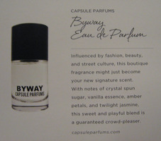"From Fall Special Edition POPSUGAR MUST HAVE Box CAPSULE PARFUMS ""Byway"" Eau de Parfum .50oz $38.00 Retail"